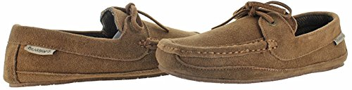 BEARPAW Mens Luke Slip-On Loafer, Hickory Tweed, 9 M US