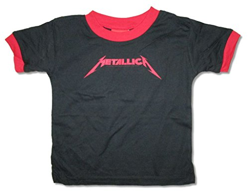 Metallica Classic Red Logo Toddler Infant Black T Shirt (2T)