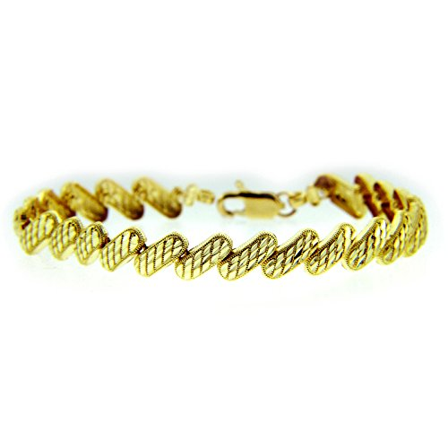 Petits Merveilles D'amour - 10 ct Or Jaune Bracelet - Diagonal Bracelet
