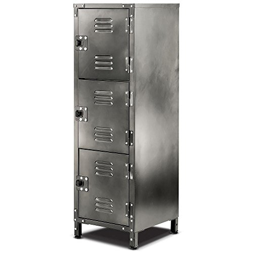 Allspace 3 Door Steel Locker With Vintage Finish 39''H X 13-3/4''D x 12''W, 450112E by Allspace