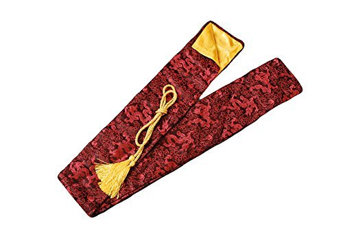 Shijian Synthetic Silk Katana Sword Bags Red Dragon Pattern QD19