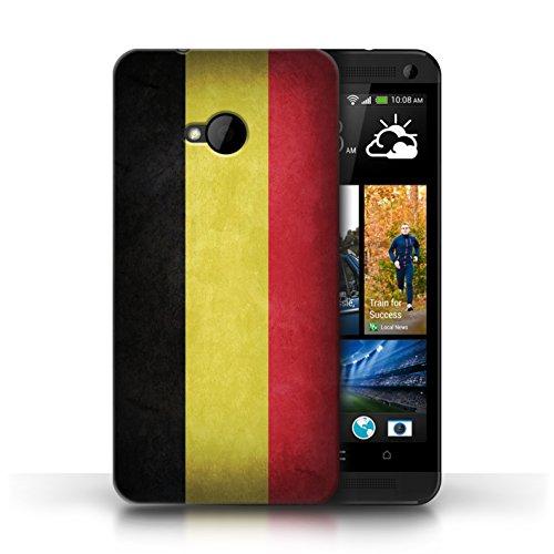 Etui / Coque pour HTC One/1 M7 / Belgique conception / Collection de Drapeau