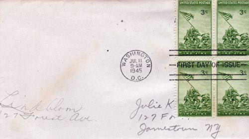 3¢ Stamps Postmarked Jul 11 1945 Cancelled First Day of Issue ()
