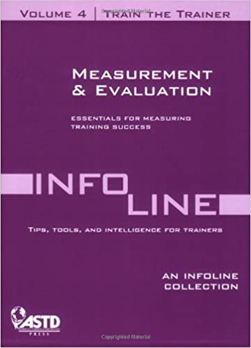 Download online Train the Trainer Vol. 4: Measurement and Evaluation PDF, azw (Kindle), ePub
