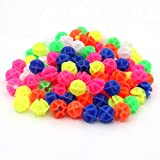 KLOUD City Assorted Colors Bike Bicycle Wheel Spokes Plastic Clip Bead/Spoke Derections (105pcs Round Bead)