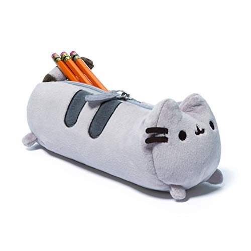 GUND Pusheen Cat Plush Stuffed Animal Accessory Pencil Case, Gray, 8.5