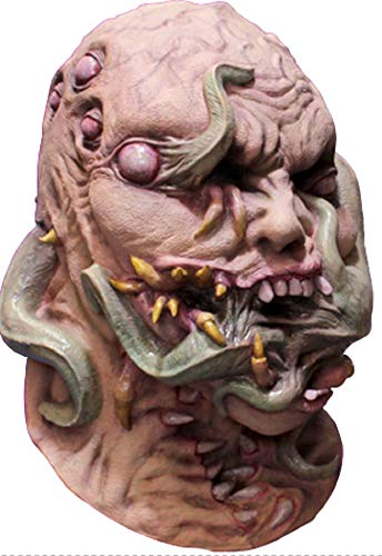 Ghoulish Writhing Corruption Latex Mask Creature Fangs Halloween Accessory -