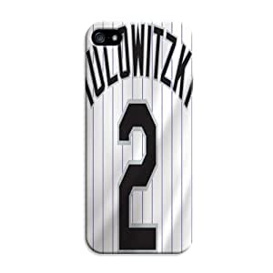 LarryToliver Customizable Baseball Colorado Rockies Ultra Thin Snap-on Hard Case for iphone 5/5s