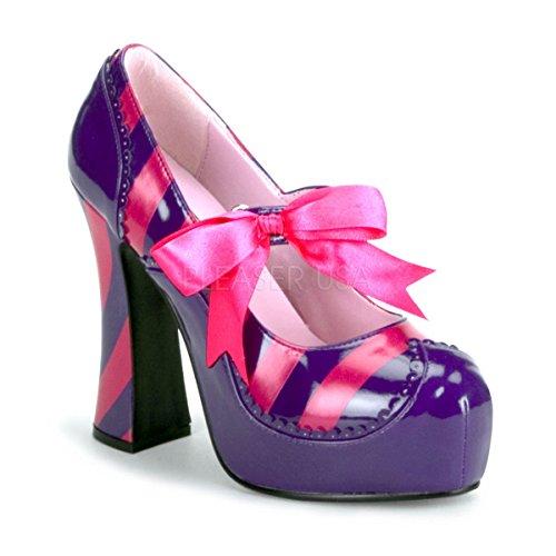 Funtasma by Pleaser Women's Kitty-32/PURHP Pump,Purple/Hot Pink Patent,9 M -