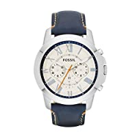 Fossil Men's FS4925 Grant Analog Display Analog Quartz Blue Watch from Fossil
