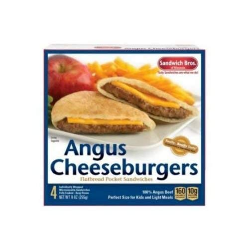Sandwich Brothers Angus Cheeseburger, 9 Ounce -- 6 per case.