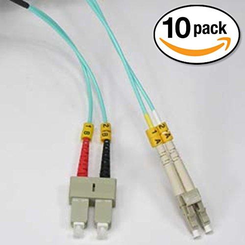 Full Duplex Router (InstallerParts (10 Pack) 6m LC-SC 10Gb 50/125 OM3 M/M Duplex Fiber Cable Aqua Jacket)