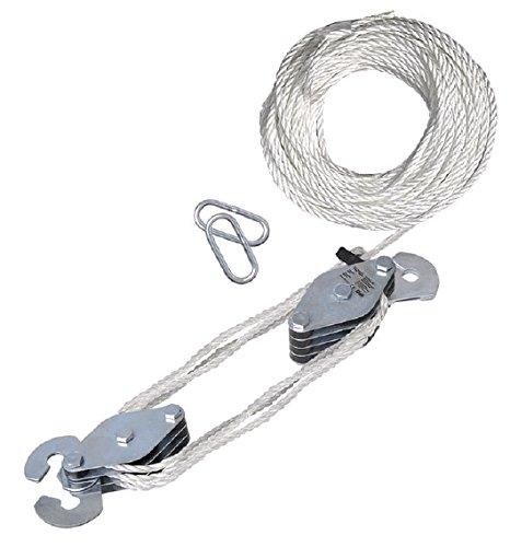 Safstar Rope Hoist Pulley Wheel Block and Tackle Puller L...