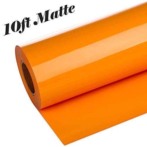 guangyintong Adhesive PVC Heat Transfer Vinyl Roll 12 Inch X 10 Feet Glossy (Orange)