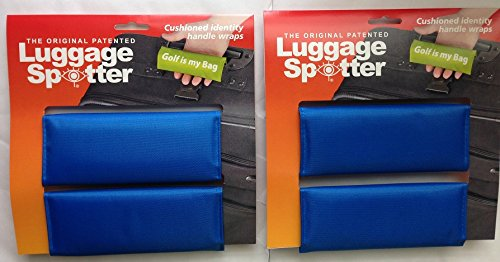 BUY ONE GET ONE FREE! Luggage Spotter ROYAL BLUE Luggage Locator/Handle Grip/Luggage Grip/Travel Bag Tag/Luggage Handle - 4 PACK! GREAT GIFT! Matrix Source LSBLUE2