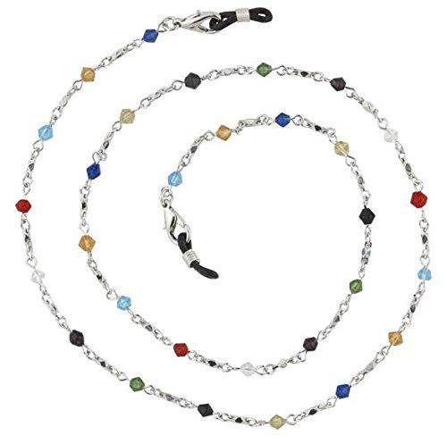 Beaded Glass Eyeglass Chain Holder Fashion Lanyard Necklace, - Eyeglass Rainbow Frames