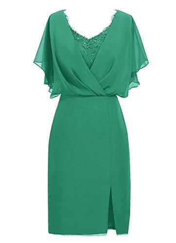 CladiyaDress Women A Line Knee Length Mother Of The Bride Dress C087LF Green US22W