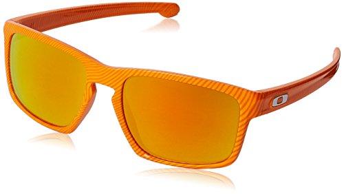 Oakley Men's Sliver Atomic Orange Fingerprint/Fire Iridium S