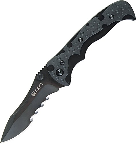 Columbia River Knife and Tool 1093K Mini My Tighe Assisted Opening Folding Knife with 3-Inch Black Serrated Blade