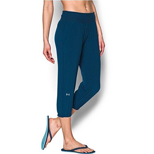 Under Armour Women's Heatgear Sunblock 50 Pants, Blackout Navy/Tonal, (Tonal Block)
