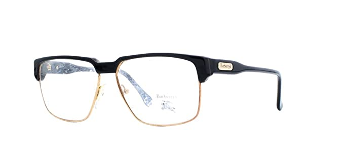 Burberry 19 2 Black Gold Rectangular Certified Vintage Eyeglasses ...