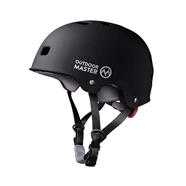 OutdoorMaster Skateboard Helmet – CPSC Certified Lightweight, Low-Profile Skate & Freestyle BMX Helmet with Removable Lining – 12 Vents Ventilation System – for Kids, Youth & Adults
