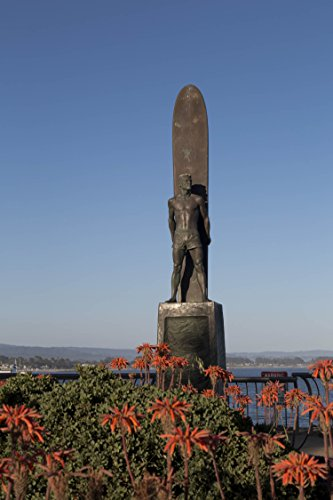 Photography Poster - Surfing monument To Honor Surfing Santa Cruz California