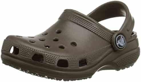crocs Kid's Classic K Clog 10006, Chocolate, 6-7 M US Toddler