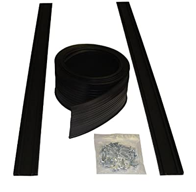 Auto Care Products 54008 8-Feet Garage Door Bottom Seal Kit with Track and Mounting Hardware