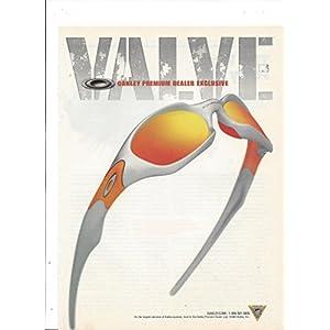 PRINT AD For 2003 Oakley Sunglasses Orange & Silver Valve