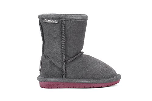 BEARPAW Emma 608T Shearling Boot (Toddler) Charcoal/Pomberry