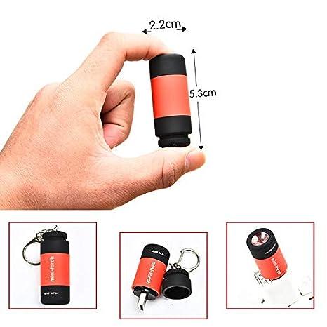 JS-Bonita - Mini linterna LED multicolor de 0,3 W, linterna ...