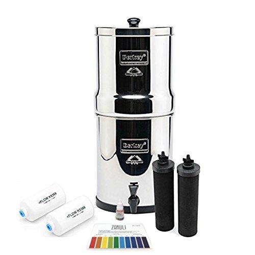 Big Berkey BK4X2 Countertop Water Filter System with 2 Black