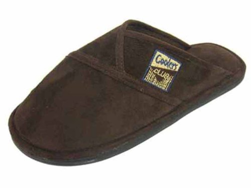 Mens Coolers Club Microsuede Slip-on Slipper Mules Soft and Warm UK 7-12 Brown pieQKT5