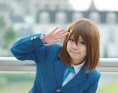K-ON! 3 point tool set Cosplay Costume K-ON Hirasawa Yui wig wig hairpin net with it! (japan import) by