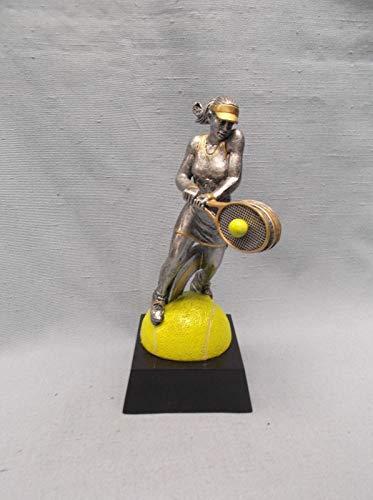 Female Tennis Resin Action Award Full Color Trophy