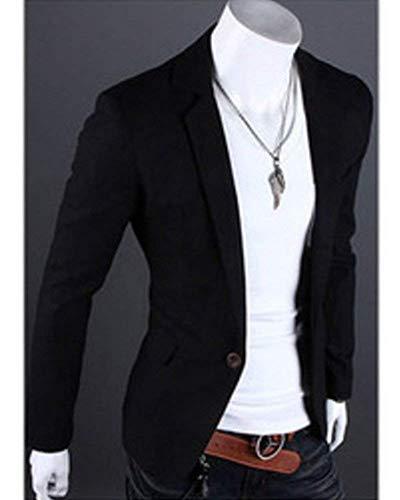Slim Loisirs Mariage Hommes Costume Fit Casua Bouton Blazer Moderne Schwarz 1 Vestes De Business Veste Casual YpnExwnv