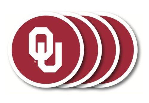 Duck House NCAA Oklahoma Sooners Vinyl Coaster Set (Pack of 4)