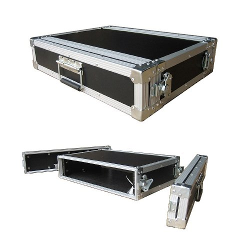 2 Space 2u 12 Inches Deep Medium Duty 1/4 Inch ATA Effects Rack Case - Closeout by Roadie Products, Inc.