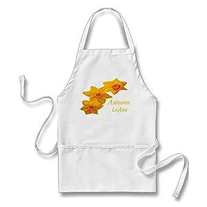 Aidabo March Birth Flower Apron ?- Daffodil Apron for Men Women with Pockets 60