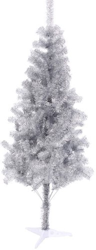 Hb 6' Ft Sparking Gorgeous Folding Artificial Tinsel Christmas Tree Silver Color 450 - Tinsel Trees Christmas