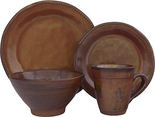 Stoneware Sango Bowls (Sango 16 Piece Cyprus Dinnerware Set, Sienna)