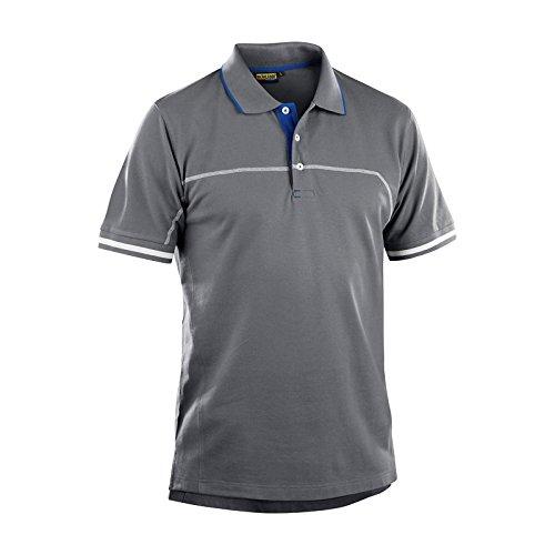 Blaklader 338910509485S Polo Shirt, Size S, Grey/Cornflower Blue by Blaklader (Image #1)