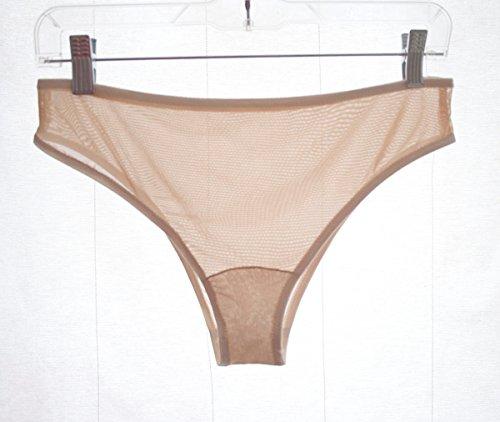 - Sheer Skin Tone Panties with Ivory Trim. Beige Underwear. Homemade Lingerie
