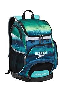 Speedo Large Teamster Backpack, Tie Dye Turquoise, 35 L