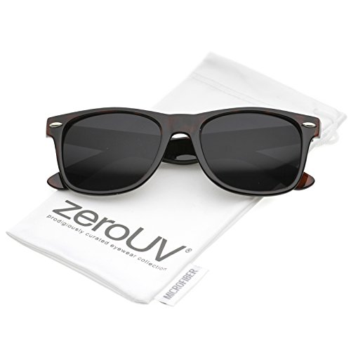 94d767bfd9 zeroUV - Retro Wide Arm Neutral Colored Lens Horn Rimmed Sunglasses 55mm  (Shiny Tortoise   Smoke) - Buy Online in KSA. zerouv products in Saudi  Arabia.