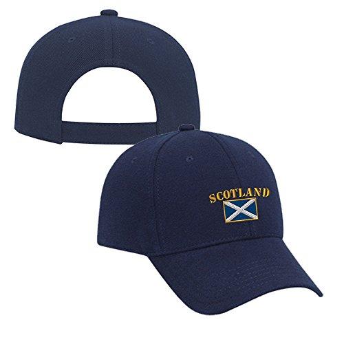 - Speedy Pros Scotland Flag Embroidery Adjustable Structured Baseball Hat Navy
