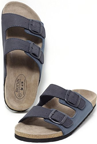 Herren Bio Clogs Tieffußbett Pantolette Sandalen Slipper Navy Blue Gr. 41-44