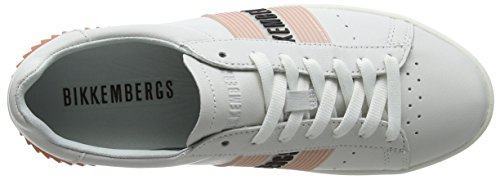 Bikkembergs White Cosmos 2130 Donna Sneaker Pink Bianco 44qrX