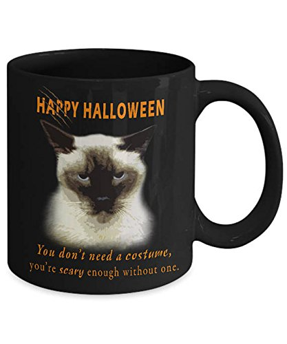 Pusheen Costume Ideas (Halloween You don't need a costume - Novelty Mug, Gift idea for Cat Lover, 11oz 15oz Black White Coffee Tea Hot Cocoa, gift)